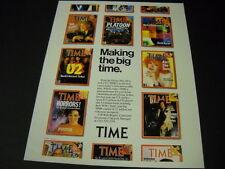 U2 David Byrne Molly Ringwald Bette Midler Steven Spielberg 1987 Promo Poster Ad