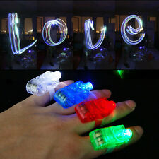 4pcs Fashion LED Party Fun Laser Finger Light Beam Torch Ring Mix Color Glow TS