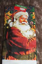 CHRISTMAS KITCHEN DISH TOWEL REALISTIC SANTA CLAUSE ABSORBANT MICROFIBER