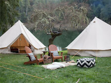 5m/16.4 ft Bell Tent Cotton Dyed Fabric Waterproof With Mesh On Door Window