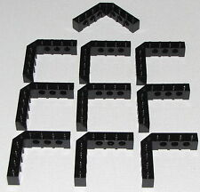 Lego Lot of Black Technic Bricks 5 x 5 Right Angle 1 x 4 - 1 x 4 Dot Parts