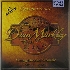 Dean Markley 2206 Vintage Bronze 12-String Medium Acoustic Guitar Strings 12-54