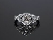 Kay Jewelers 14K White Gold 1.00ct Round Diamond Engagement Wedding Ring Band 7