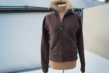 BENCH Damen Mädchen Fleece Jacke Sweatjacke Fleecejacke Fell KragenGr.L braun #2