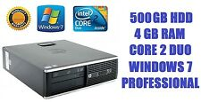 HP 8000 ELITE SFF PC Desktop Core 2 Duo 2.93GHz 4GB DDR3 500GB HDD DVD WINDOWS 7