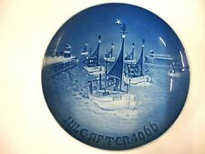 "ROYAL COPENHAGEN ""JULE AFTER"" 1966 BING & GRONDAHL COLLECTOR PLATE SAILBOATS VTG"