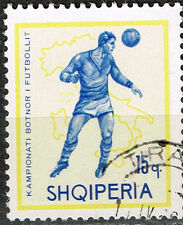 Albania Maxico 1970 Football Soccer World Cup Map of Italy stamp