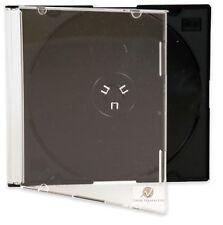 5 SINGOLO CD MAXI JEWEL CASE 5,2 mm SLIM VASSOIO nero nuovo sostituzione vuoto HQ AAA