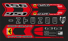 INTENSE 951 FRO CUSTOM MADE FRAME DECAL SET RED