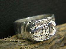 Men's ring sterling silver archangel  Michael heavy in size 10