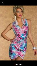 Summer Sexy Spaghetti Floral Blue Purple Dress New Tunic