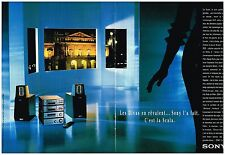 "Publicité Advertising 1994 (2 pages) La Mini Chaine Hi-Fi ""Scala"" Sony"