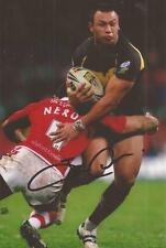 CRUSADERS RUGBY LEAGUE * JASON CHAN SIGNED 6X4 ACTION PHOTO+COA