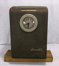 Vintage Business Office - Time Clock - STROMBERG Brand - Industrial - FACTORY 3