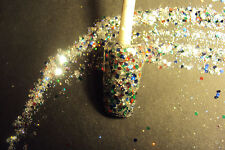 glitter mix acrylic gel nail art           COSMO