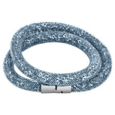 Stardust 3D Slake Bracelet Swarovski Crystal Stainless Steel Closure Grey