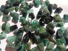 Genuine Emerald FREE SHIP 100 gemstone beads gem stone mini chip nugget bead lot