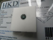 Very Nice Certified 0.71ct Fancy Intense Blue(treated) Natural Diamond!!