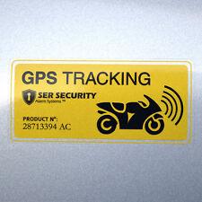 2x Autocollant Vélo Moto - Avertissement Sécurité Sticker - GPS Système d'alarme