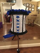 Contemporary Lyrical Tap Jazz Dance Costume Royal Blue Corset Pants Adult Small