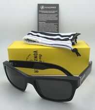 New VONZIPPER Sunglasses VZ FULTON Gloss Black Frame w/ Grey lenses