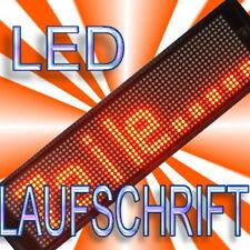LED Leuchtreklame LAUFSCHRIFT Lauftext ORANGE ROT 16x64