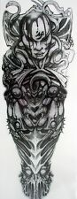Brazo completo tatuaje tribal Pirata Pegatinas Temporales Body Art 3D Tatoo Impermeable UK