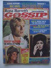 GOSSIP MAGAZINE AUGUST 1974 ELIZABETH TAYLOR ROBERT REDFORD BARBRA STREISAND