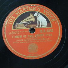 78rpm JOHN McCORMACK i know of two bright eyes / as i sit here