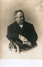 IMPERIAL RUSSIA, RUSSIAN ACTOR DAVYDOV & ORIGINAL ca 1910s PHOTO POSTCARD