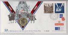 QEII FDC PNC COIN COVER 1995 50th ANNIVERSARY END WWII £2 ROYAL MINT/MAIL B/UNC