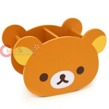 San X Rilakkuma Face Wooden Pencil Holder Organizer Box