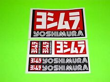 KX KXF CR CRF YZ YZF RM RMZ 80 85 125 250 450 YOSHIMURA EXHAUST STICKERS DECALS