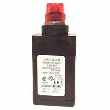 NEW C3 CONTROLS MRL125DLR RESISTOR LIGHT LED RED LINE 125V AC/DC 3W MAX, LED24RD