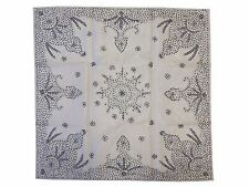 """Ivory Beaded Square Party Tablecloth Handmade Luxury Decorative Table Topper 40"""""""