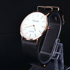 Fashion Casual Unisex Men's Women's Leather Band Wrist Watches Gift Watch