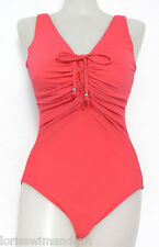 INC International Concepts Size 14 Solid Red Lace Front 1-Piece Swimsuit NWT