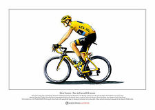 CHRIS FROOME-TOUR DE FRANCE 2015 vincitore-Ltd Edition fine art print FORMATO A3