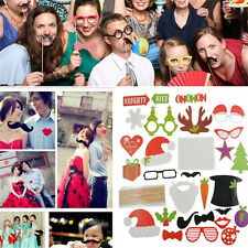 Mustache On Stick Party Decor 28x Christmas Photo Booth Props Wedding Birthday C