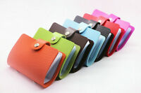 unisex PU Leather Pocket Business ID Credit Card Holder Case Wallet for 24 Card