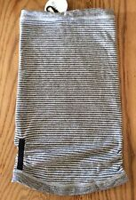 Lululemon Run With Me Neck Warmer- Gray/White Striped Pique NWT