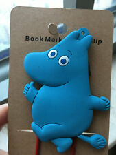 Moomin blue hippo silica gel bookmark bookmarks clip clips anime gift new