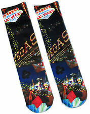 LADIES WELCOME TO FABULOUS LAS VEGAS  PHOTO SOCKS UK SIZE 4-8 BNWT