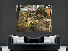 CLASSIC STEAM TRAIN POSTER COUNTRYSIDE  GIANT WALL ART PICTURE PRINT LARGE HUGE