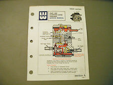 Walbro HDC Series Accelerator Pump Service Manual