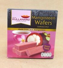 MANGOSTEEN WAFER NATURAL FOOD PREMIUM FRUIT PICNIC  SNACKS  THAILAND  33 g.