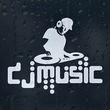 DJ Music Car Decal Vinyl Sticker For Window Or Panel Or Bumper