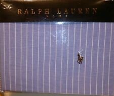 RALPH LAUREN KING SIZE BEDDING DUVET COVER SET BLUE STRIPED 100%COTTON DESIGNER