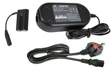 UK Ac Adapter + Coupler DRDC10 for Canon A800 A810 A1300 A1400 SX150 IS SX160 IS
