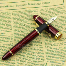 Deep Red Jinhao X450 Twist Carven Medium Nib Fountain Pen